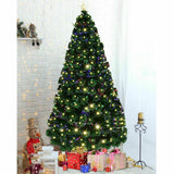 7' Pre-Lit Fiber Optic Artificial Christmas Tree w/ 280 LED Lights & Top Star - Until Times Up