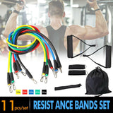 11 Pcs Resistance Bands | At Home Workout Equipment - Until Times Up