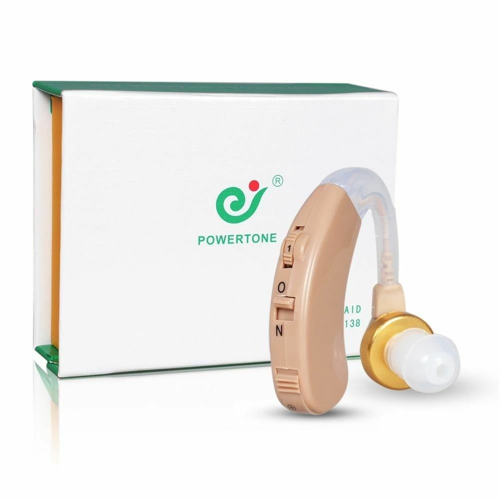 A Pair of Digital Hearing Aids Behind The Ear Sound Amplifier