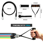 11 Piece Home Workout Resistance Bands Set - Until Times Up