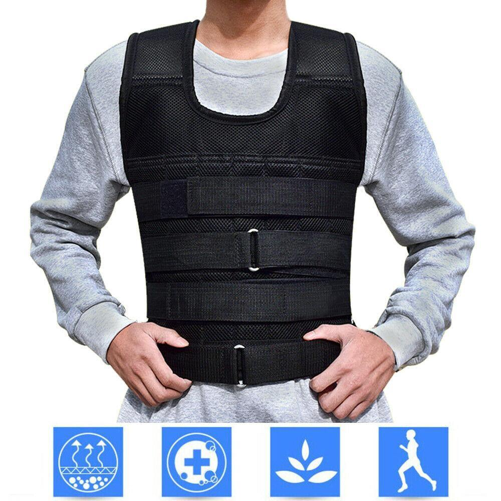 44 Pound Weighted Vest Workout Equipment | Adjustable Gym Training Empty Jacket - Until Times Up