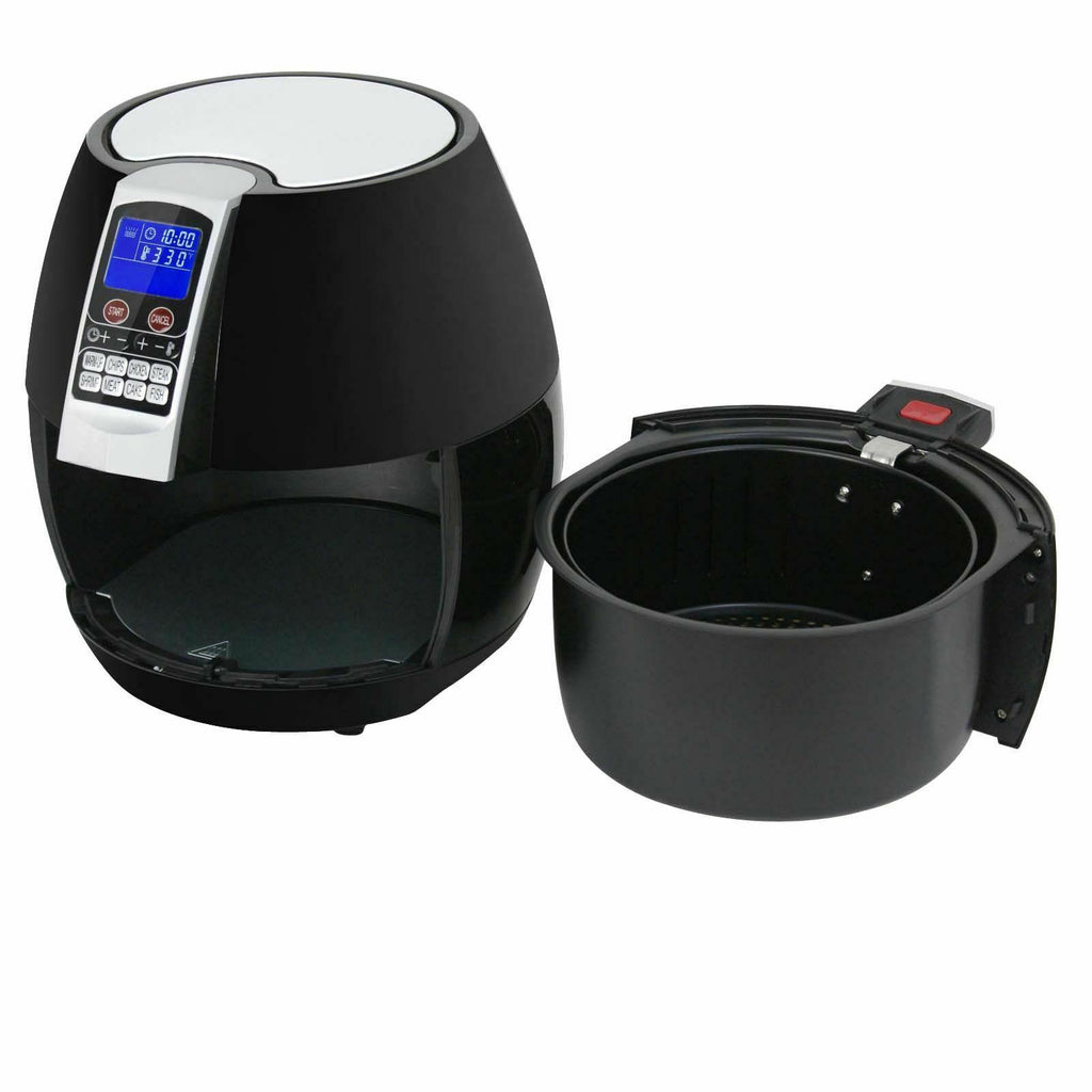 1500W LCD Electric Air Fryer With 8 Cooking Presets, Temperature Control and Timer - Until Times Up