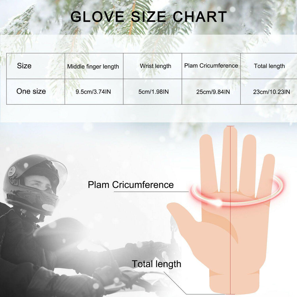 -30℃ Leather Waterproof Winter Warm Ski Gloves | Touch Screen Compatible - Until Times Up