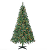 Christmas Tree 6.5 ft With 300 Pre-Strung Mini Lights, Stand Included - Until Times Up