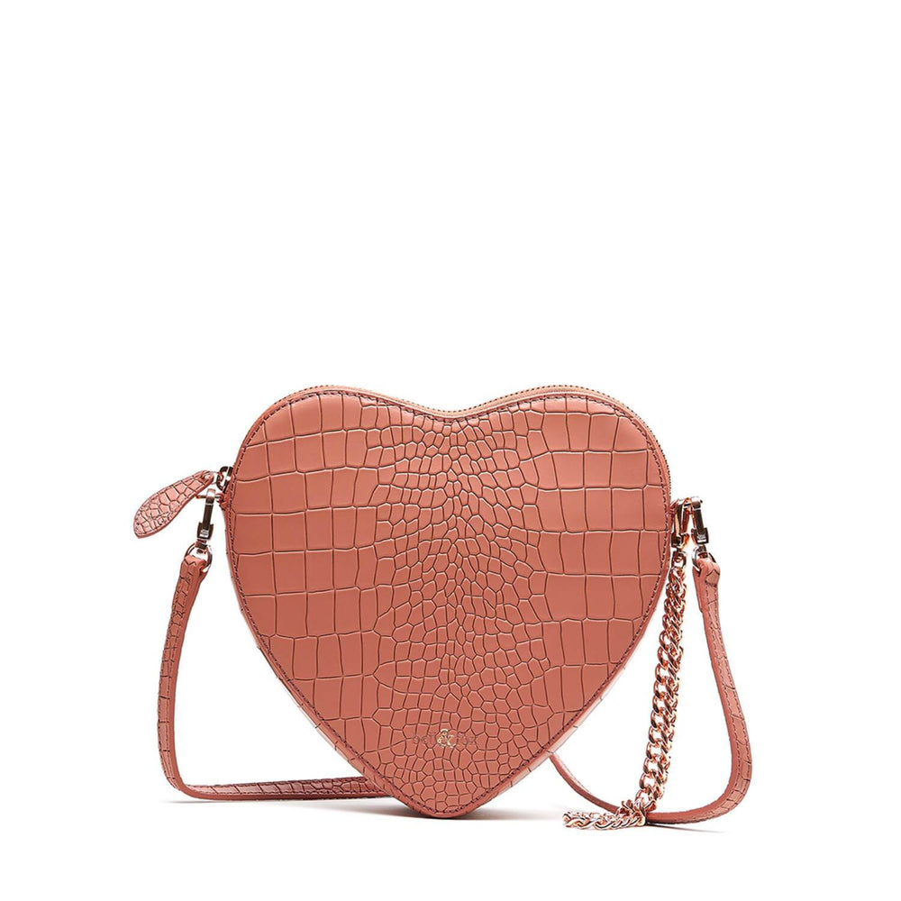 HEART SHAPE CROSS BODY BAG TERRACOTTA CROC