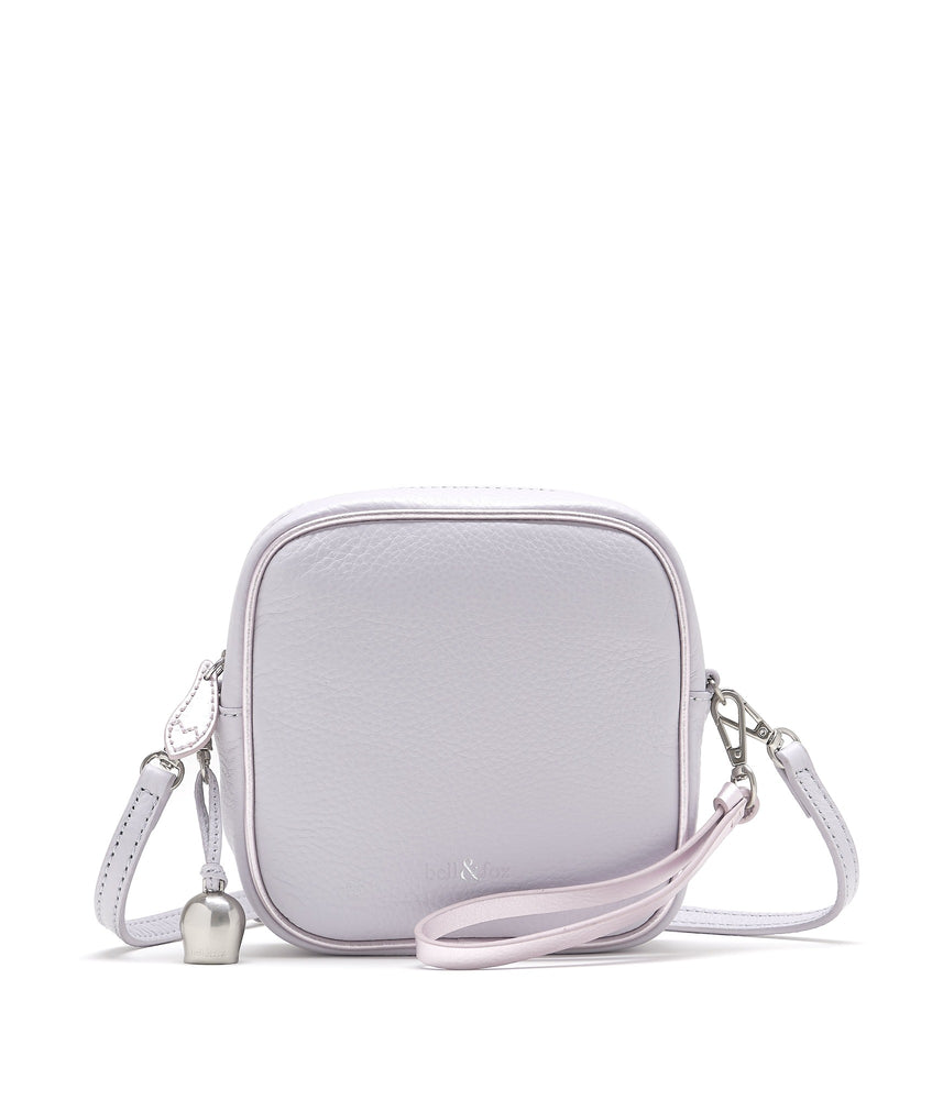 lavender lilac leather mini crossbody bag
