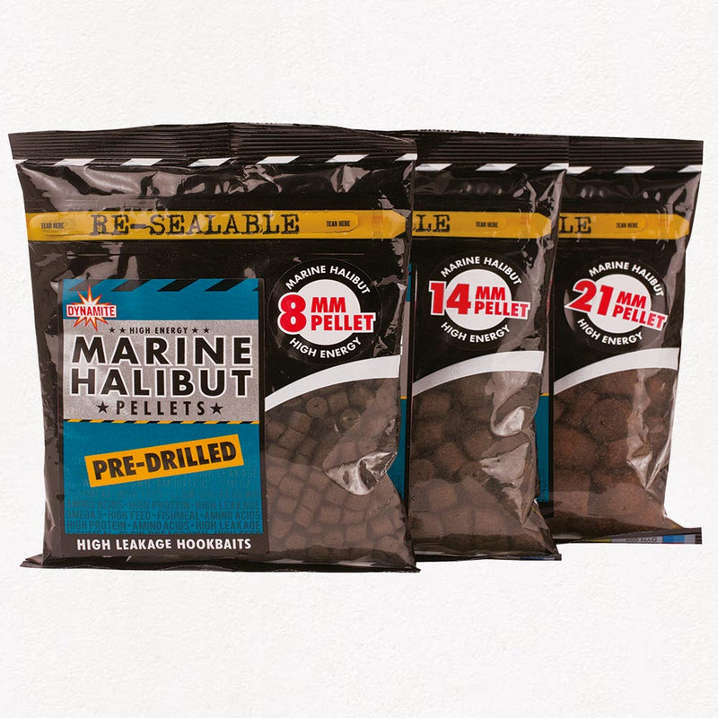 Dynamite Bait Marine Halibut Pre-Drilled 350G