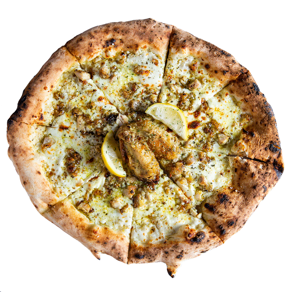 Atlanta's very own Phew's Pies Lemon Pepper Wet Pizza