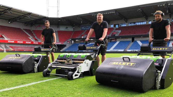 BATTERY POWER: OLYMPIA (Home of Helsinborg) named best pitch by league players