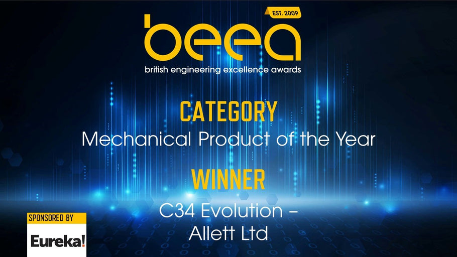 Allett C34E Wins 'Mechanical Product of The Year' at the BEEA'S