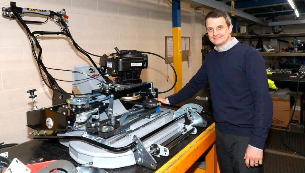 Allett Mowers | Shaun Etherington new product design engineer
