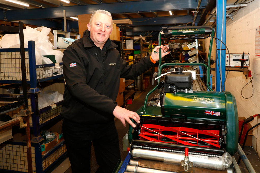 Glyn Allen with Allett Push Mowers