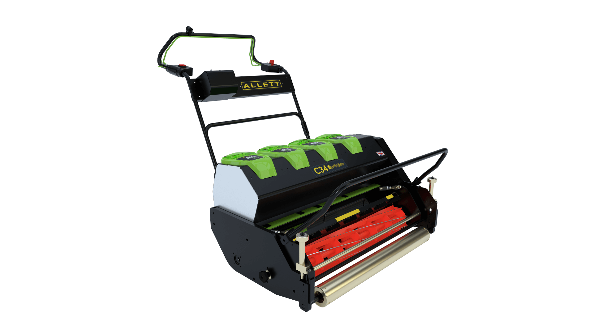 ALLETT C34 Evolution Cylinder Mower (Power-unit with Grassbox)