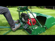 Load and play video in Gallery viewer, Allett Buckingham 24H Petrol Cylinder Mower