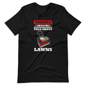 Allett Warning May Spontaneously Talk About Lawns Pro T-Shirt