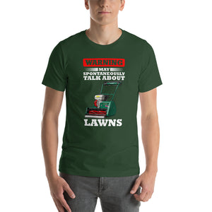 Allett Warning May Spontaneously Talk About Lawns T-Shirt