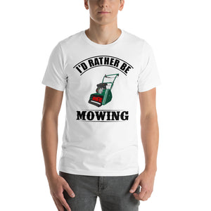 Allett Classic 'I'd Rather Be Mowing 'White Short-Sleeve Unisex T-Shirt
