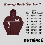 Load image into Gallery viewer, Women's Do Things Embroidered Hoodie Sweatshirt