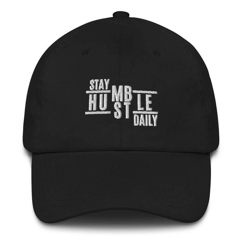 Stay Humble Hustle Daily Embroidered Dad Hat