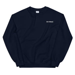 Men's Do Things Embroidered Pullover Sweatshirt