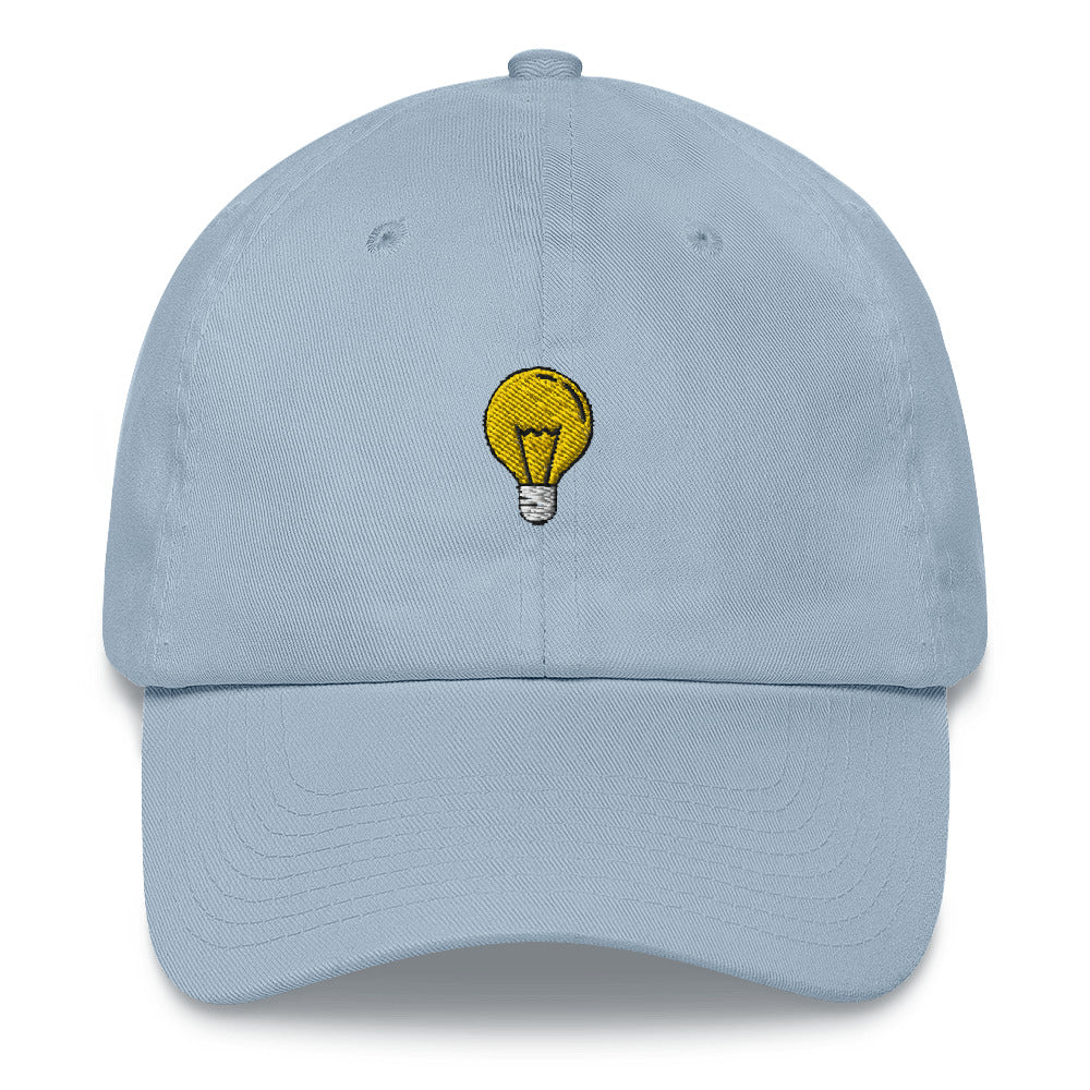Light Bulb Embroidered Dad Hat