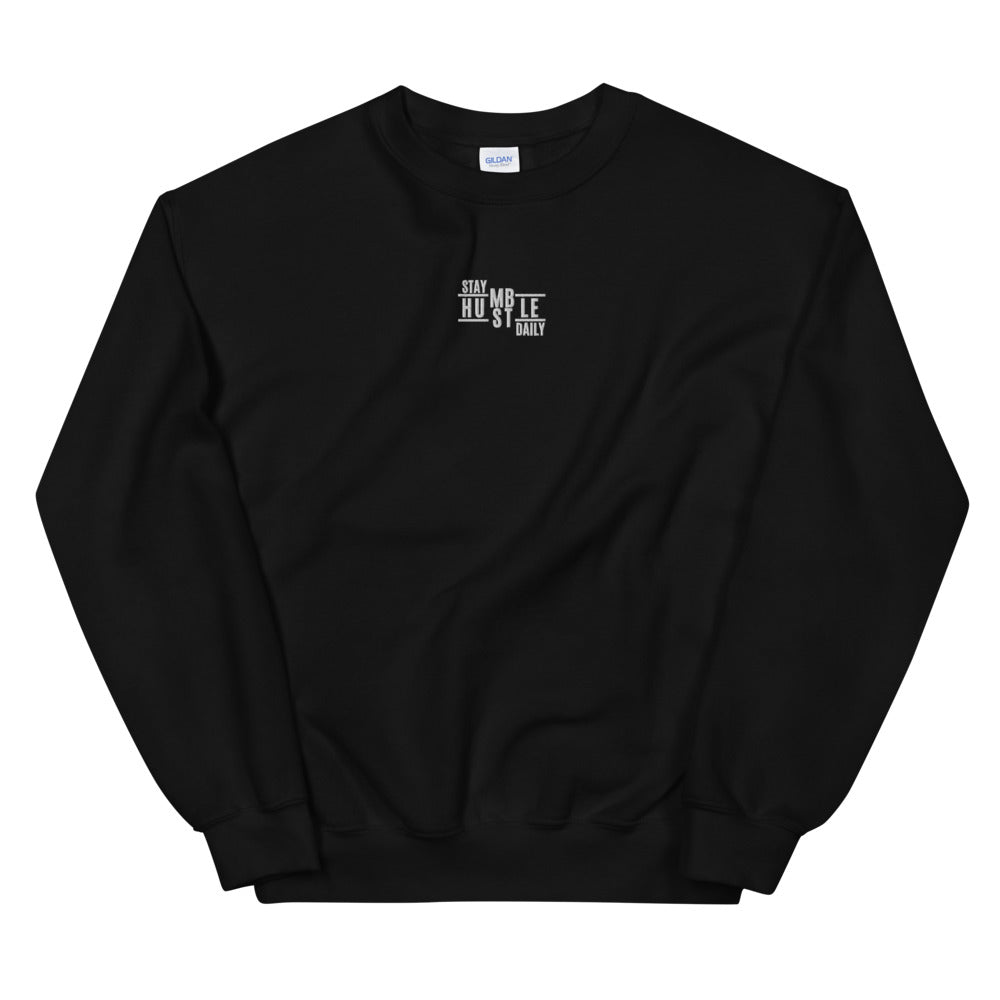 Men's Stay Humble Hustle Daily Embroidered Pullover Sweatshirt