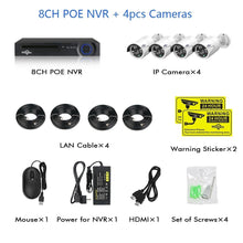 Load image into Gallery viewer, 8 Channel 5MP POE Security Camera System Kit:AveretteTech Shop:United States / None / 4pcs cameras