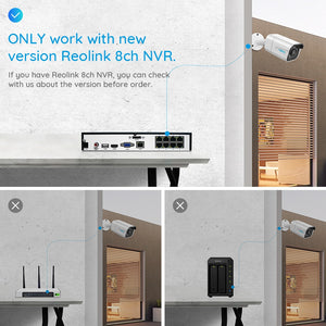 Reolink 4K 8MP IP Camera POE Outdoor w/ Night Vision:AveretteTech Shop