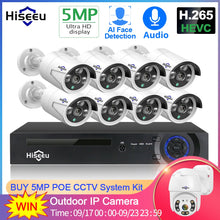 Load image into Gallery viewer, 8 Channel 5MP POE Security Camera System Kit:AveretteTech Shop