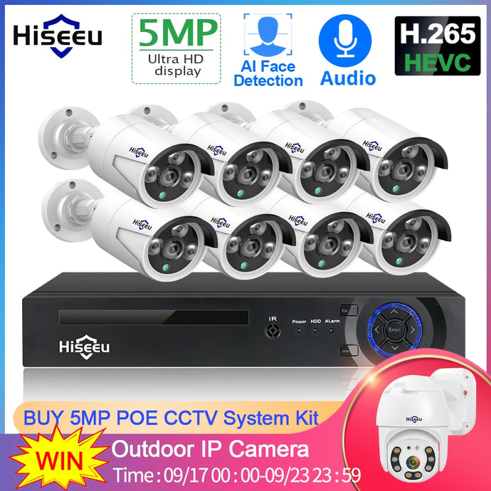 8 Channel 5MP POE Security Camera System Kit:AveretteTech Shop