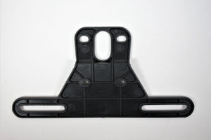 License Plate Mount Bracket, Straight, Rust Proof Polymer - Black