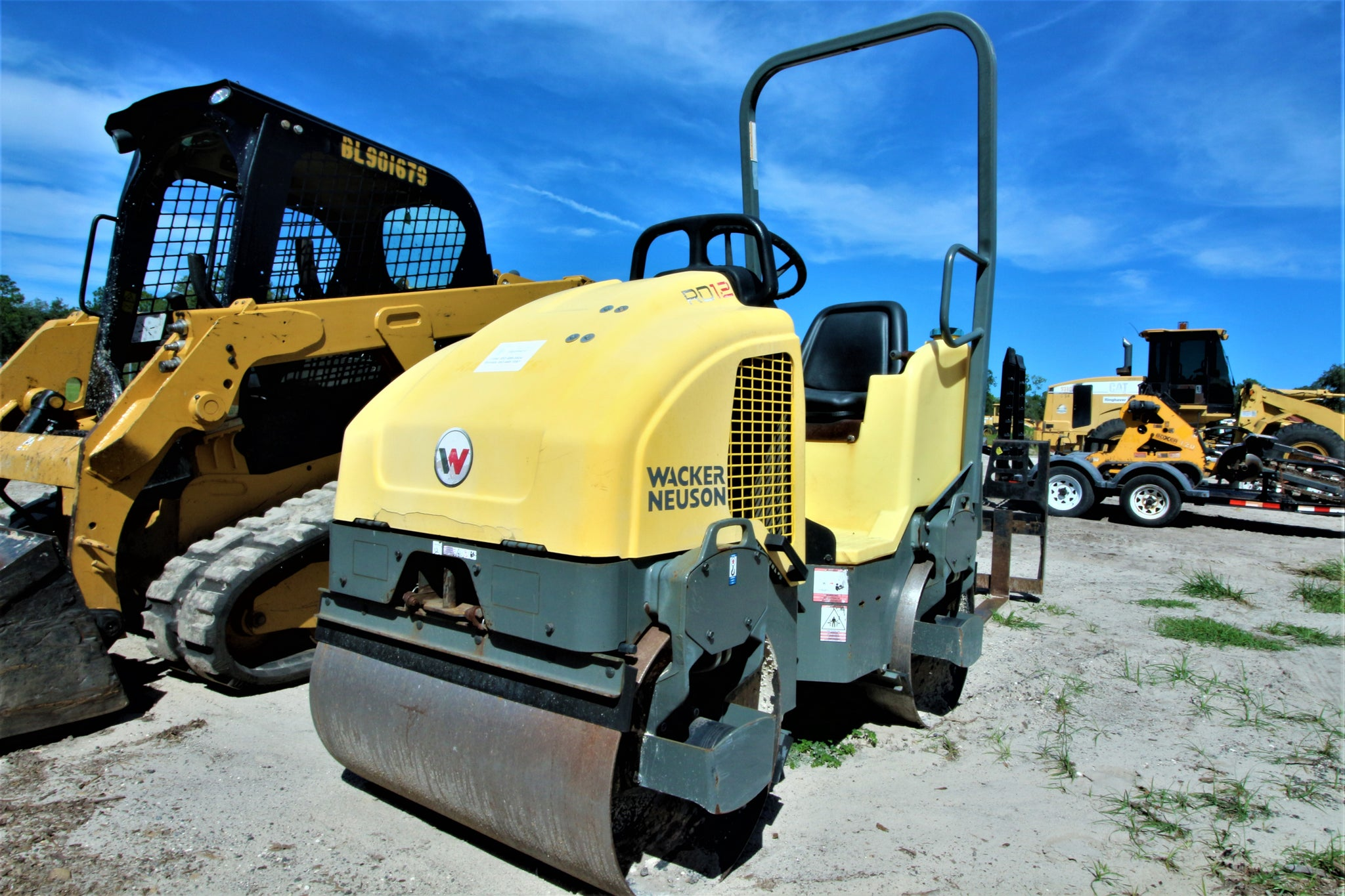 Wacker Neuson RD12A Vibratory Double Drum ROLLER RENTAL ONLY