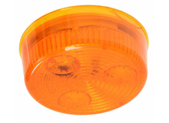 Optronics LED Trailer Clearance or Side Marker Light - Submersible - 3 Diodes - Round - Amber Lens