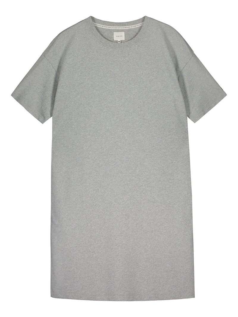 KITINEN T-SHIRT DRESS, GREY MELANGE