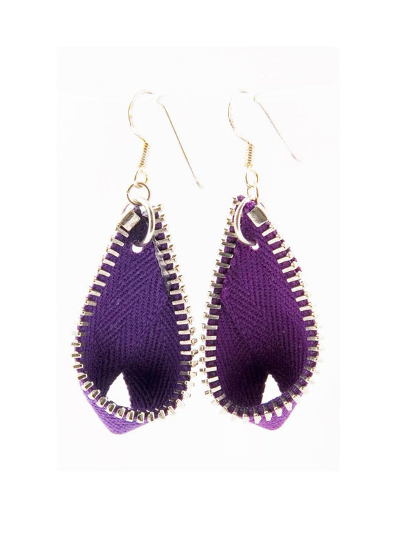 PISARA EARRINGS, PURPLE