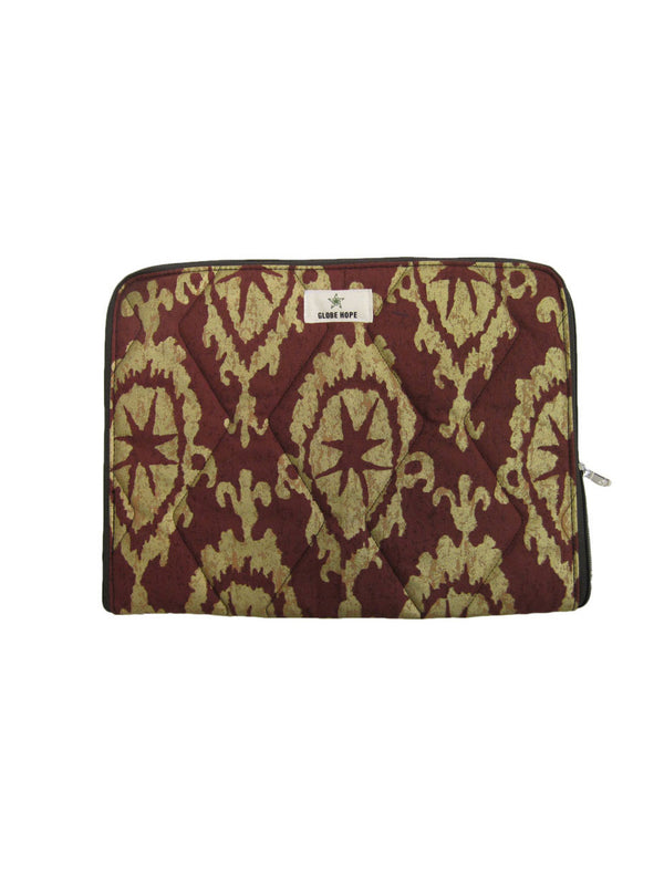 "KETO LAPTOP/TABLET COVER 10"", RED AND GOLD"