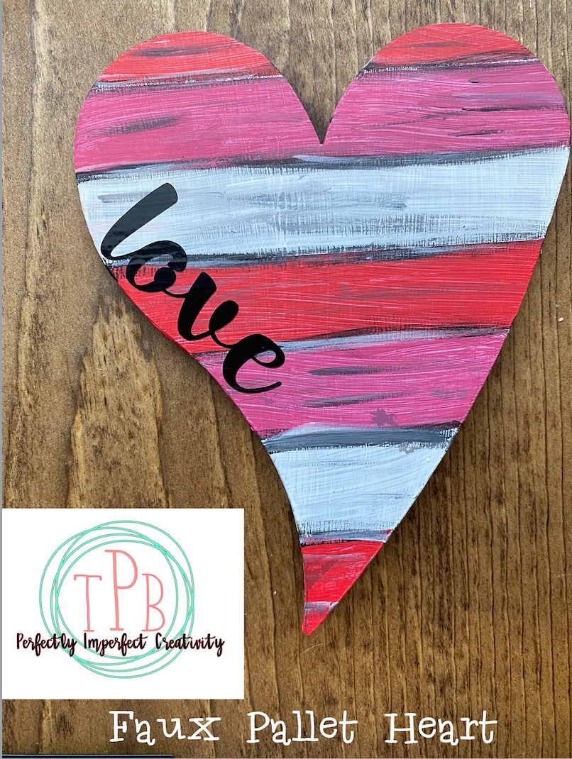 Faux Pallet 6 inch Whimsical Heart Magnet