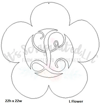Load image into Gallery viewer, Initial Flower
