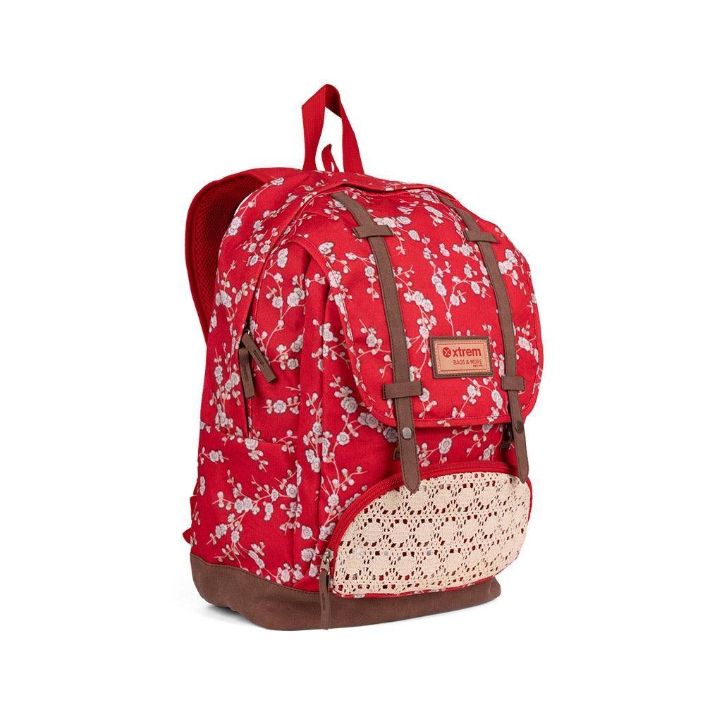 Mochila Straps 059 Red Flowers