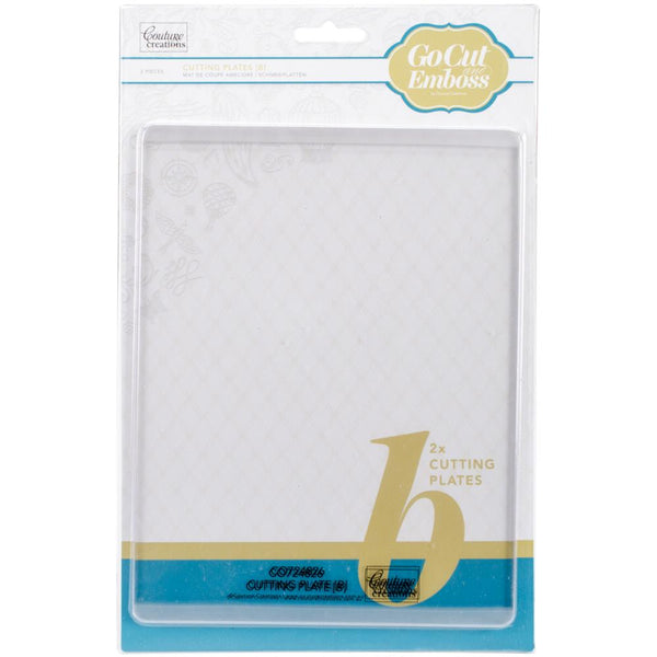 "Couture Creations GoCut Adapters 2/Pkg - Cutting/Embossing Plates B, 5.875""X7.75"""