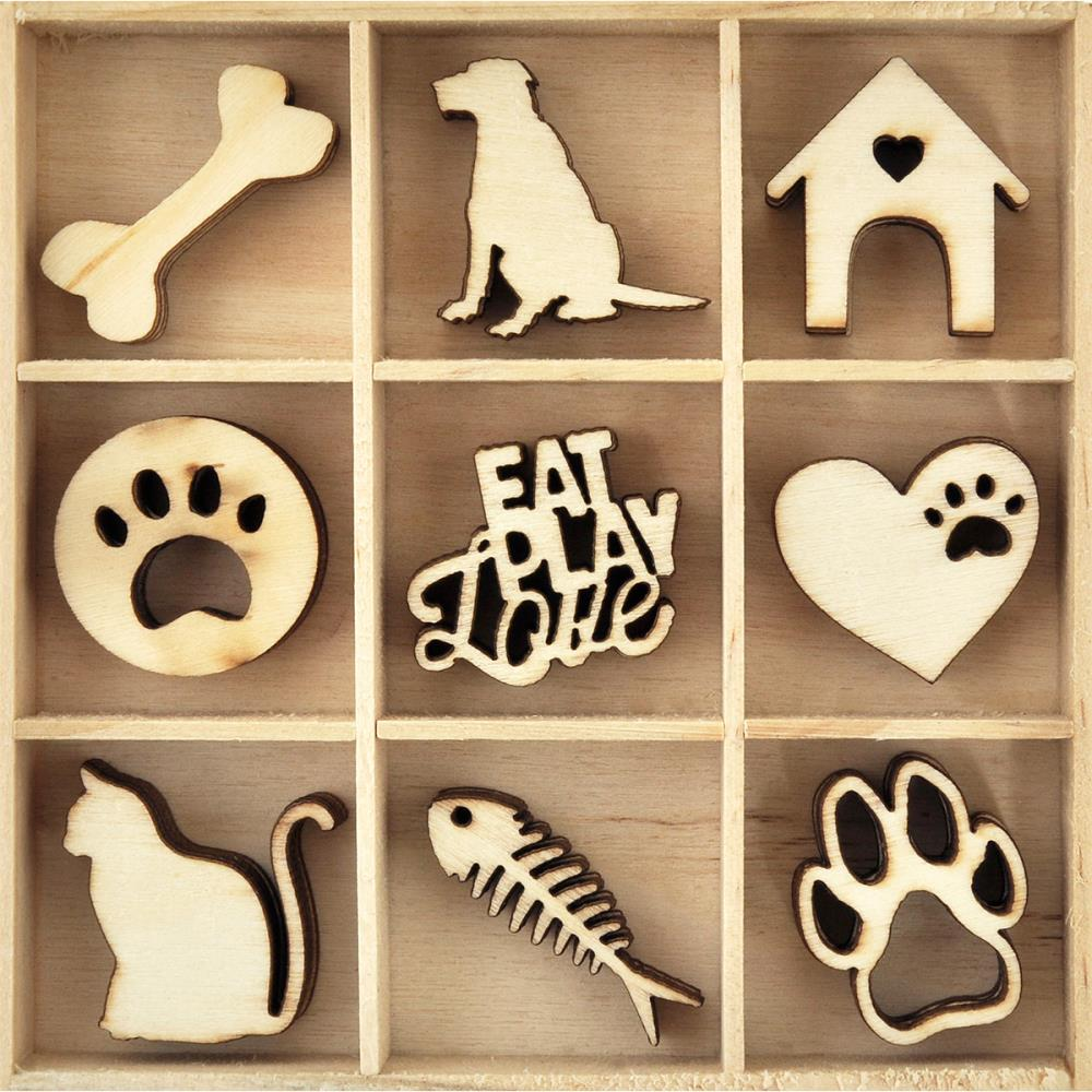 Kaisercraft Wooden Flourish Pack - Pets