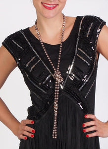 Beaded Flapper Necklace - 52""