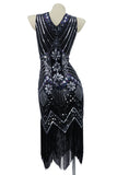 Black Beaded Art Deco Flapper Dress