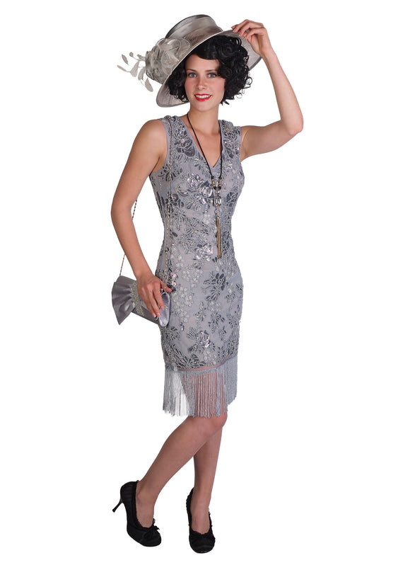 Silver/Grey Flapper Dress