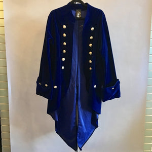 Long Blue Velvet Tailcoat