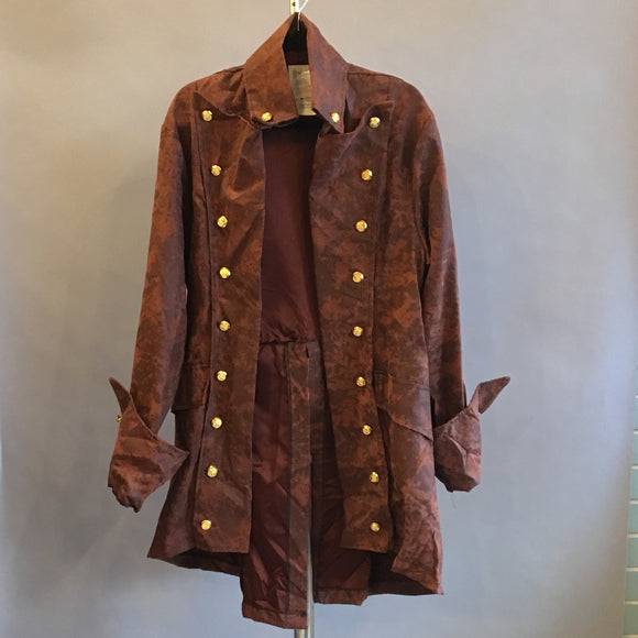 Long Sleeve Brown Pirate Coat