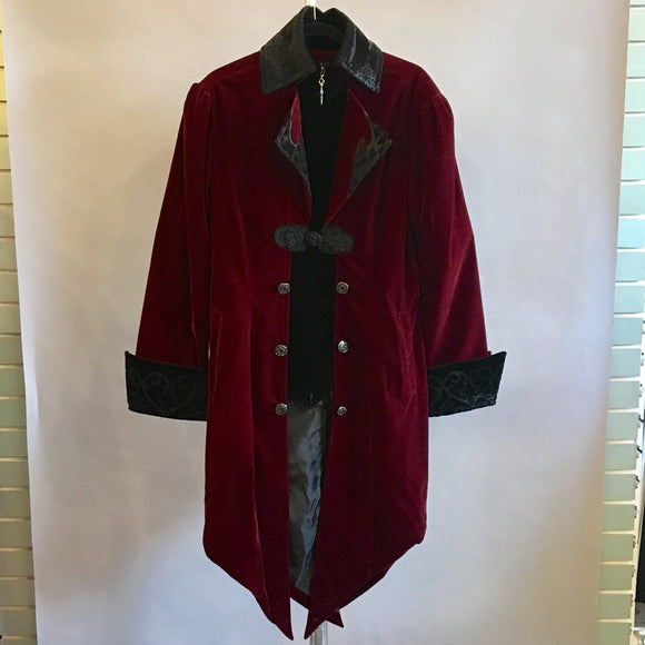 Burgundy Gothic Swallowtail Jacket