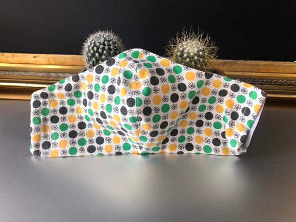 Dots & Daisies Mask - Large