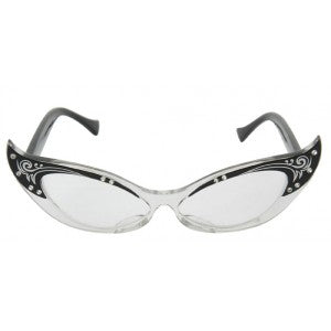 Fancy Black Cat Eye Glasses