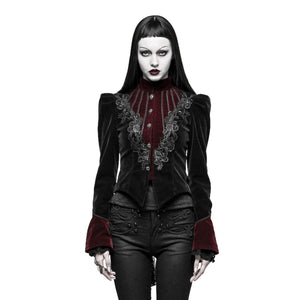 Burgundy and Black Gothic Jacket